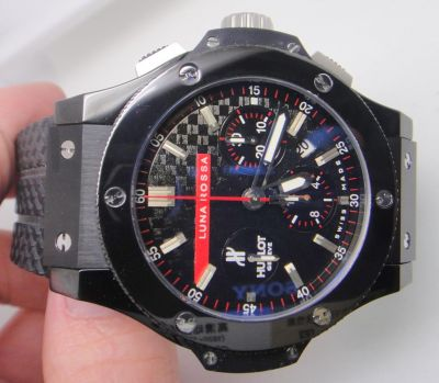 "HUBLOT BIG BANG ""LUNA ROSSA"" ALL BLACK CERAMIC & CARBON-FIBER -"