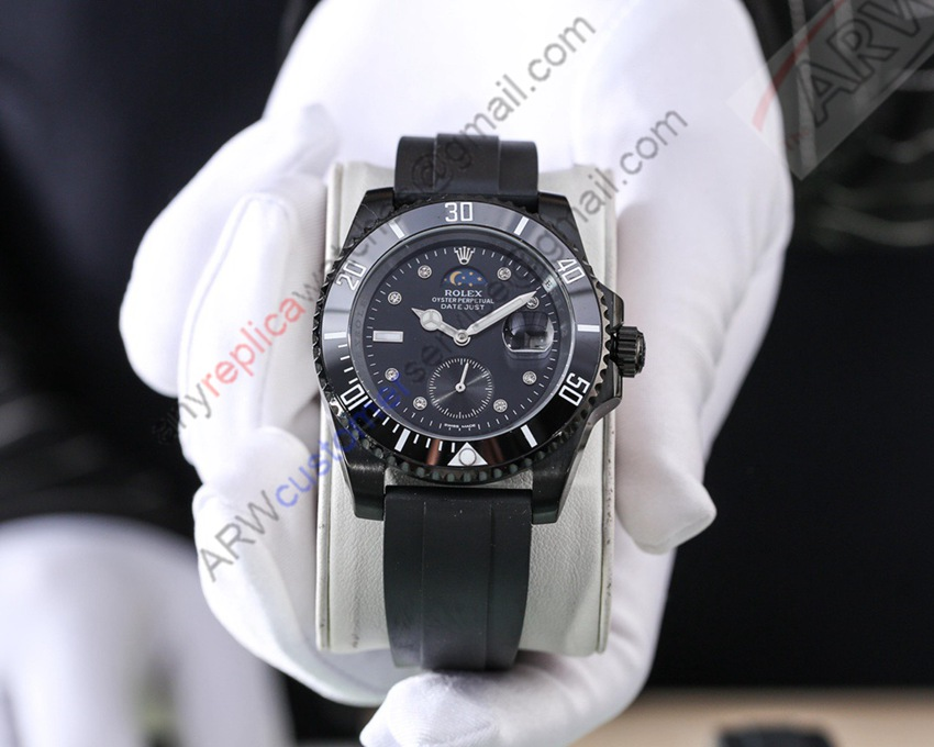 Hot Sale Replica Rolex Datejust Rubber Strap Men's Watch