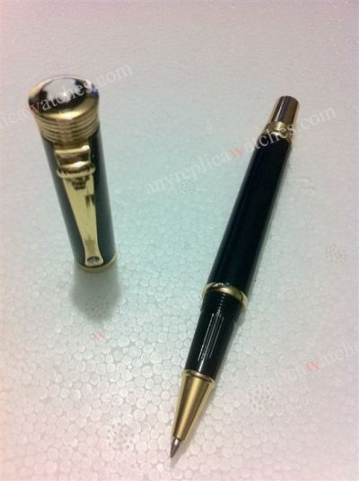 High Quality Replica Montblanc DIVA LINE Yellow Gold w/ black re