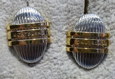 Stainless & Gold Montblanc Classic Collection Cuff Links AAA