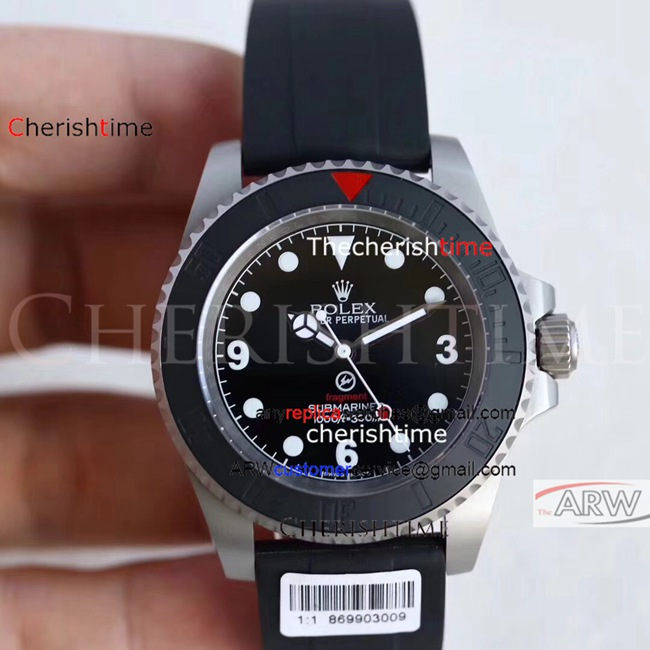 Clone Rolex Black Dial Black Ceramic Bezel Swiss 2836 Watch