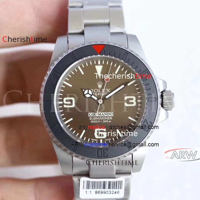 Clone Rolex Khaki Dial Black Ceramic Bezel Swiss 2836 Watch