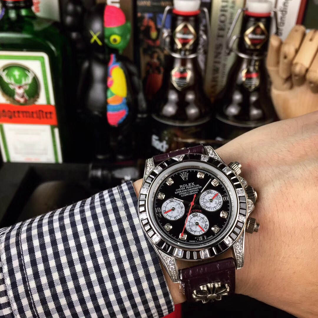 Nice Quality Clone Rolex Daytona Black Dial Men's Watch