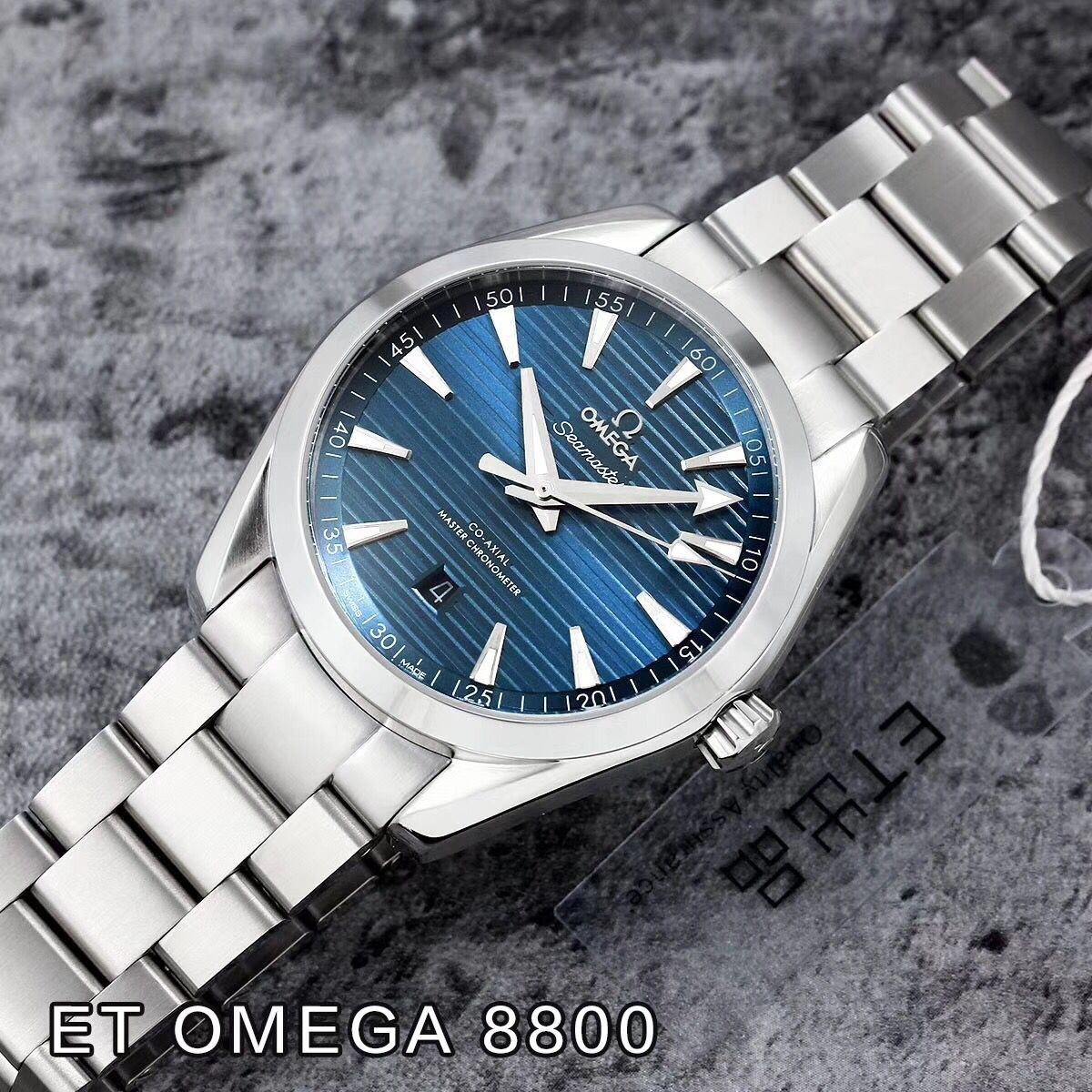 Copy Omega Blue Dial Stainless Steel Case 41.5mm Swiss Men Watch