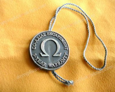 Omega Gray hang tag