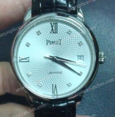 Swiss Grade replica Piaget SS Silver Face Men's Watch