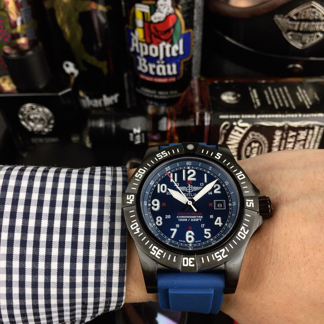 Perfect Gift Copy Breitling Superocean Blue Dial Watch