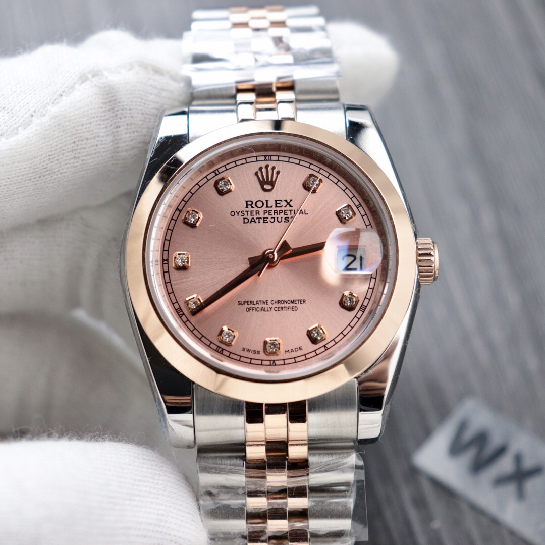 Perfect Replica Rolex Datejust Pink Dial Watch