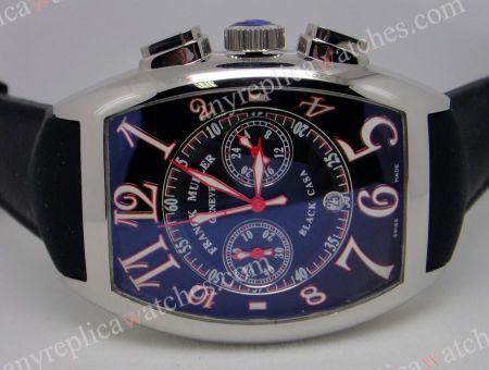 Replica Franck Muller Casablanca SS Black Chronograph Men Watch
