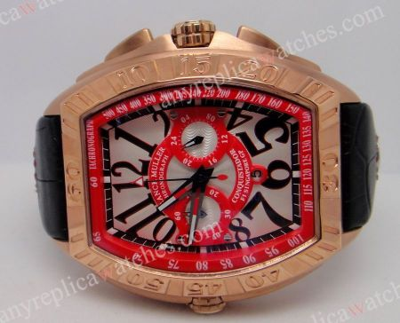 Franck Muller Chronograph Conquistador Grand Prix Black & Red