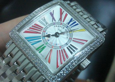 Stainless Steel Replia Franck Muller Master Square Diamond Watch