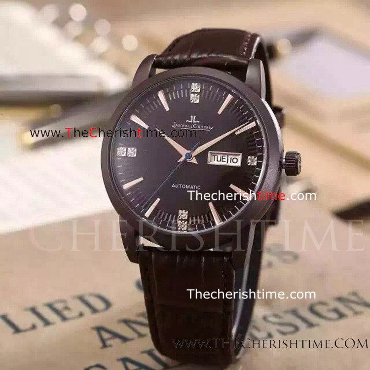 Replica Black Face Automatic Jaeger LeCoultre Mens Watch