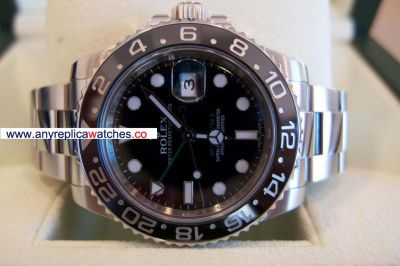 Replica Rolex GMT-Master II Black Dial Automatic Watch