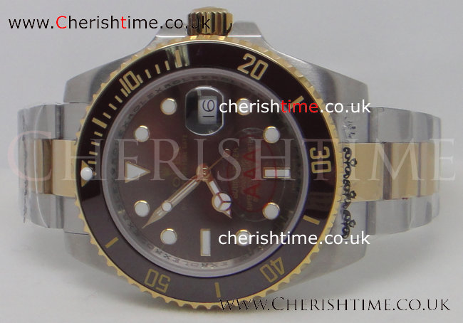 Ceramic Bezel Rolex Submariner Brown Face Men's Watch