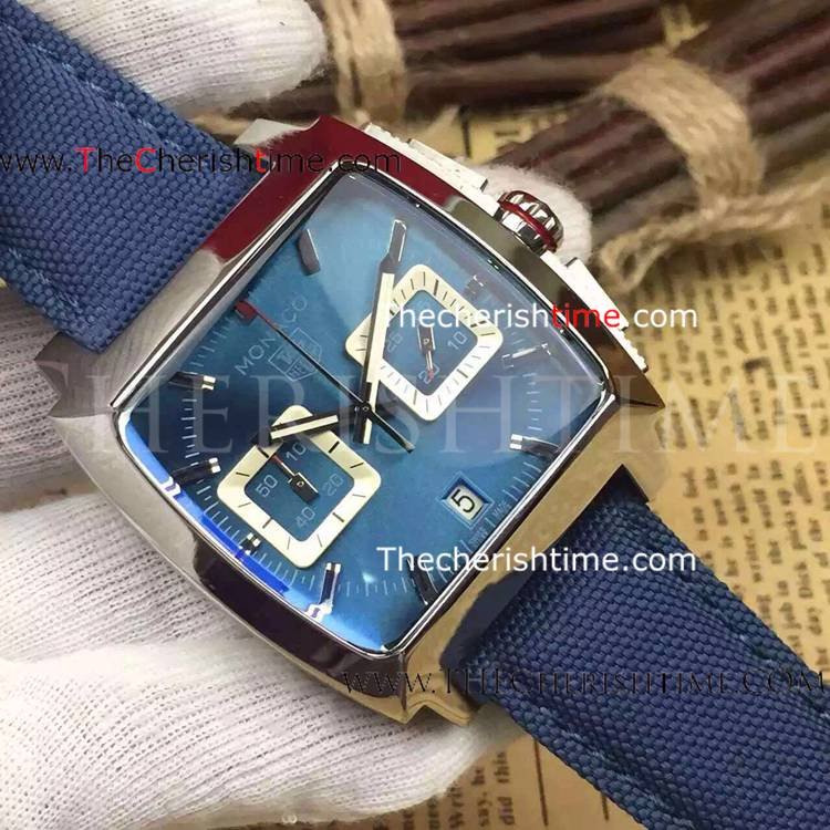 Replica Tag Heuer Monaco Srainless Steel Blue Dial Watch