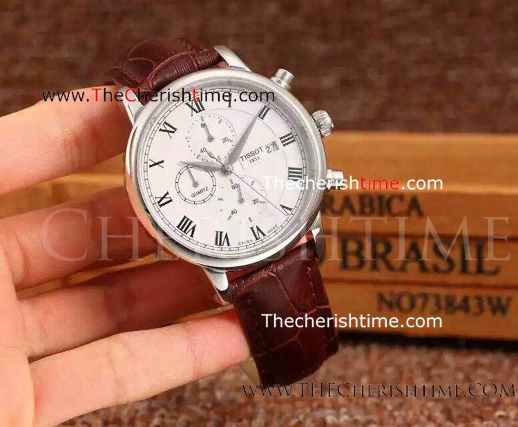 Replica Tissot Stainless Steel White Face Quartz Watch