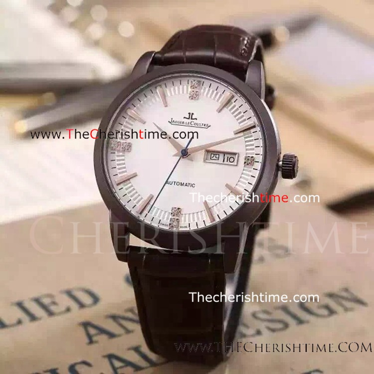 Replica White Face Automatic Jaeger LeCoultre Mens Watch