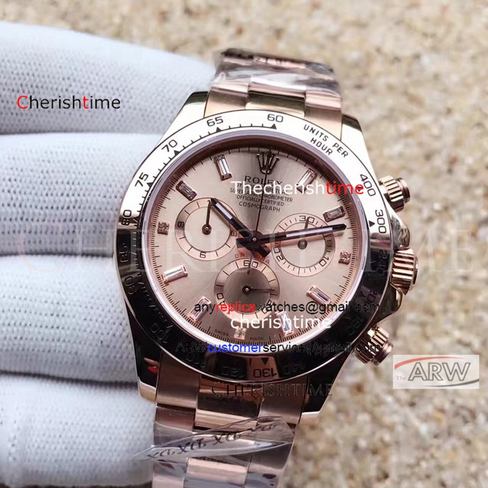 Replica Rolex Rose Gold Dial All Rose Gold Case Swiss Watch