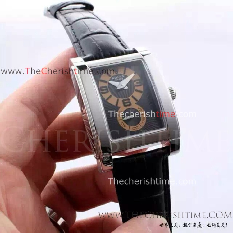 Rolex Cellini Prince SS Black Dial Replica Watch