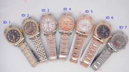 Rolex Datejust Arabic Numeral Dial Watches