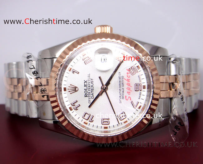 Rolex Datejust 2-Tone Rose Gold Jubilee / Arabic Watch