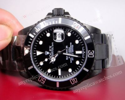 Ceramic Bezel Solid Black Rolex Submariner watch 40mm