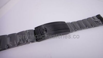 Replacement Black Watch Band for Rolex Submariner 40mm Watch / N