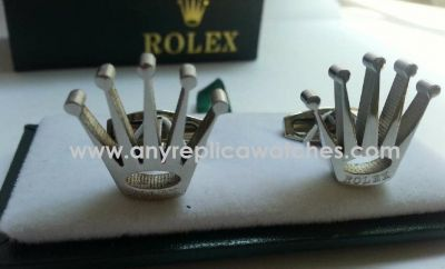 Rolex Crown Silver Cufflinks / 316L Stainless Steel / AAA Grade