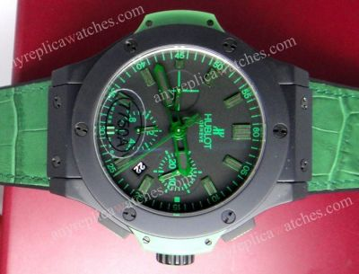 SWISS GRADE HUBLOT BIG BANG ALL BLACK GREEN 44 MM