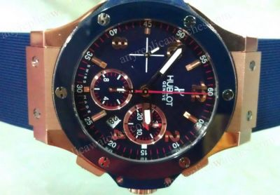 SWISS HUBLOT BIG BANG CERAMIC BEZEL BLUE COLORE MENS WATCH