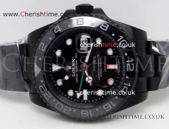 Solid Black Rolex GMT-MASTER II 40mm