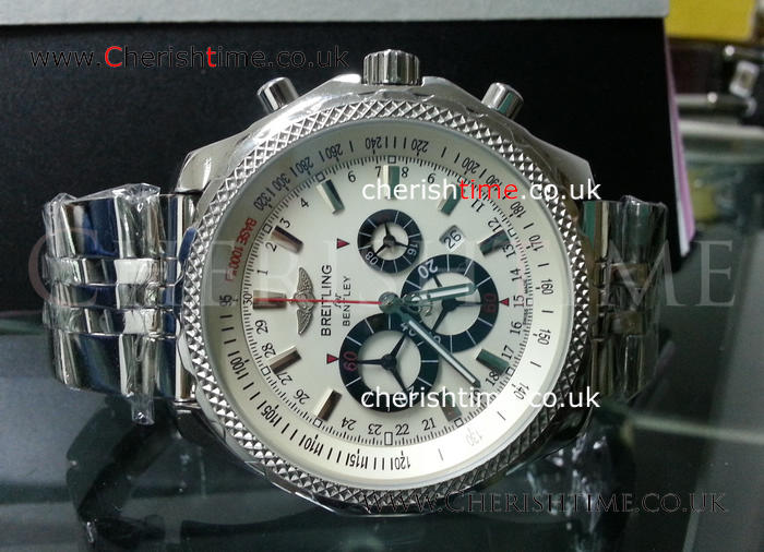 Breitling for Bentley Barnato White Face Replica Watch