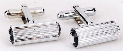Stainless Steel Montblanc Copy CuffLinks Vertical Stripes