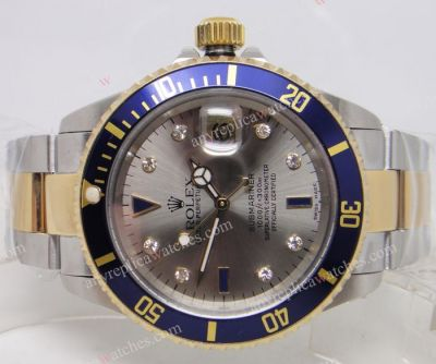 Swiss Eta 2836 Movement /Rolex Subemariner 2-Tone Blue Bezel Men