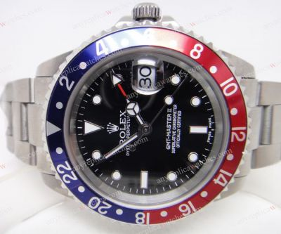 Swiss Eta 2836 Movement /Rolex GMT Master II Watch Red & Blue Be