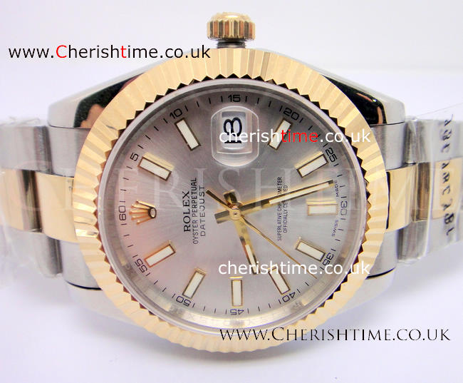Swiss Replica Rolex Datejust II 2-Tone Silver Face Extra Large S