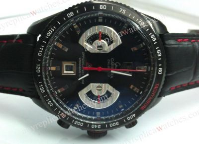 TAG CARRERA CALIBRE 17 All Black Leather watch