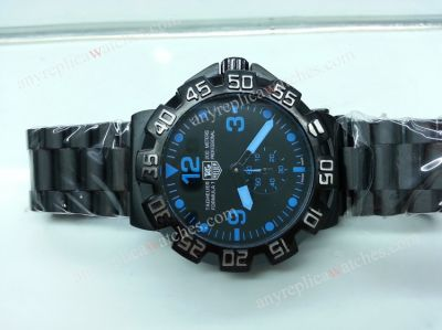 TAG HEUER Formular 1 Black Case / BLUE MARKER Watch