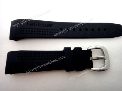 TAG HEUER Replacement Black Rubber Band 20mm