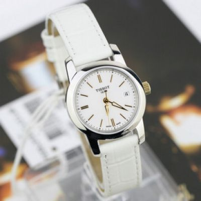 Replica Tissot Watches: T-Classic Dream Ladies watch White Leath
