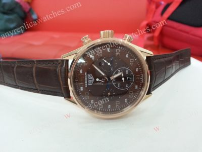 Tag Heuer Mikrogirder 100 Brown Face w/ Leather Strap Men's Watc