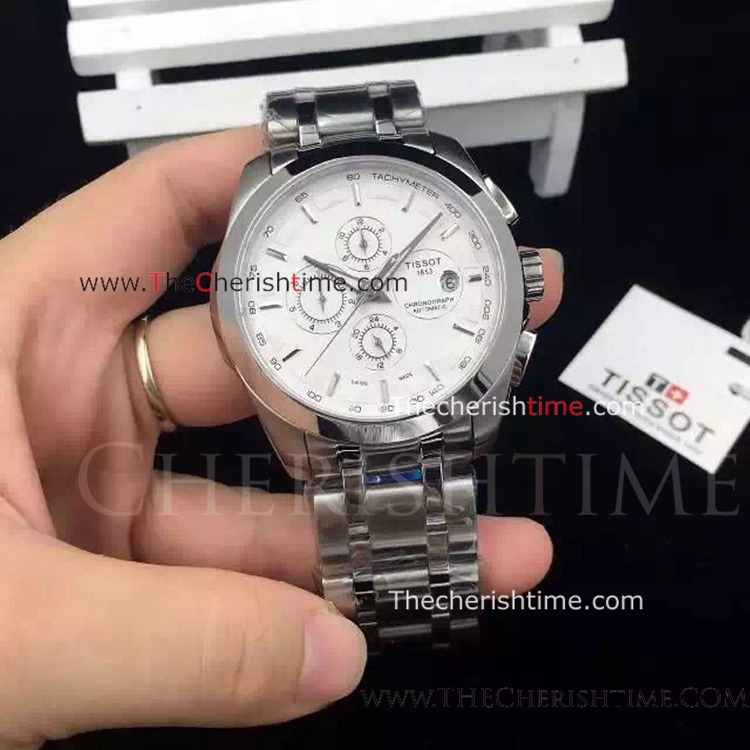 Tissot T035 Stainless Steel Replica Watch White Face