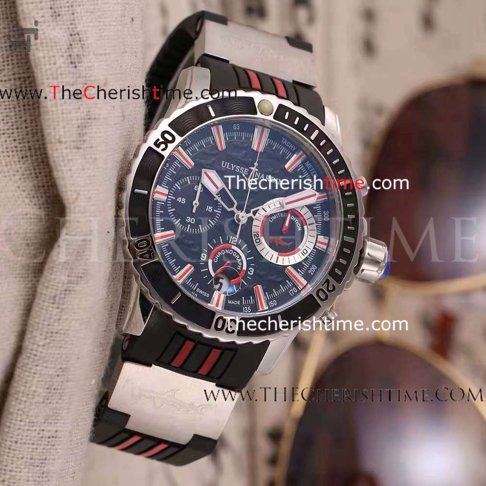 Ulysse Nardin Diver Chrono Stainless Steel Black Dial Watch Fake