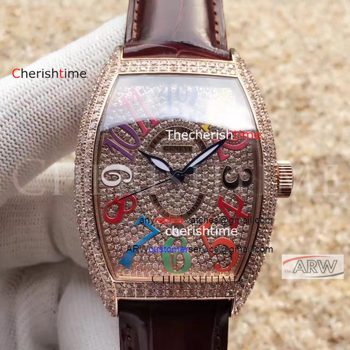 Franck Muller Varicolored Arabic Numerals Fake Swiss Watch