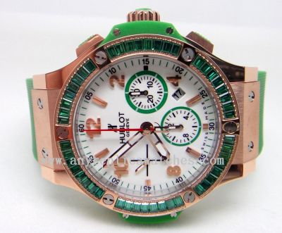 Hublot BIG BANG APPLE - Green Rubber - SWISS Grade