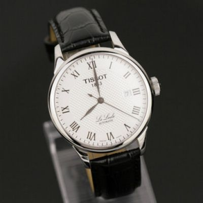 White Dial TISSOT 1853 Automatic Leather Watch