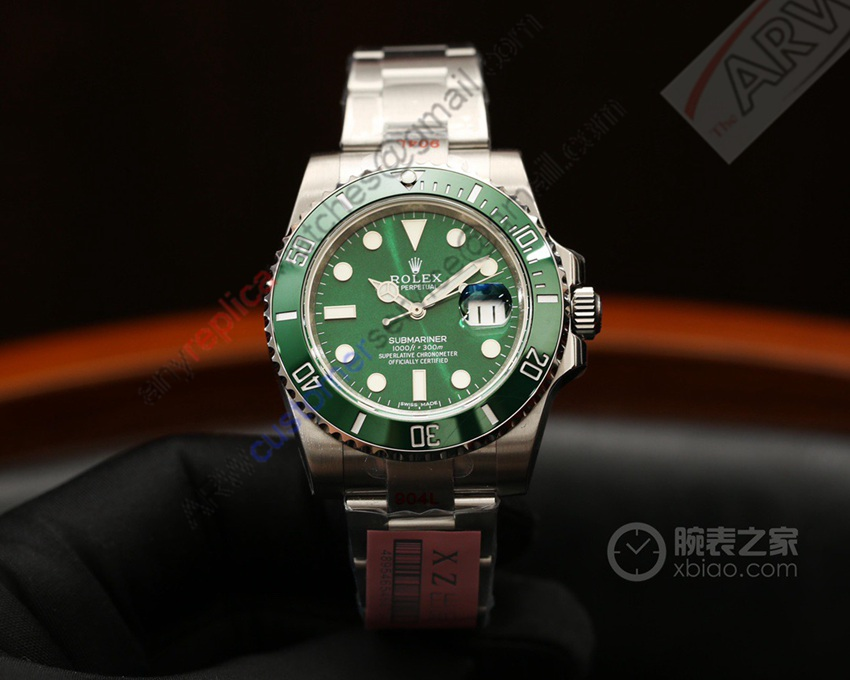 XZ Factory 1:1 Replica Rolex Submariner Green Dial Watch 40mm