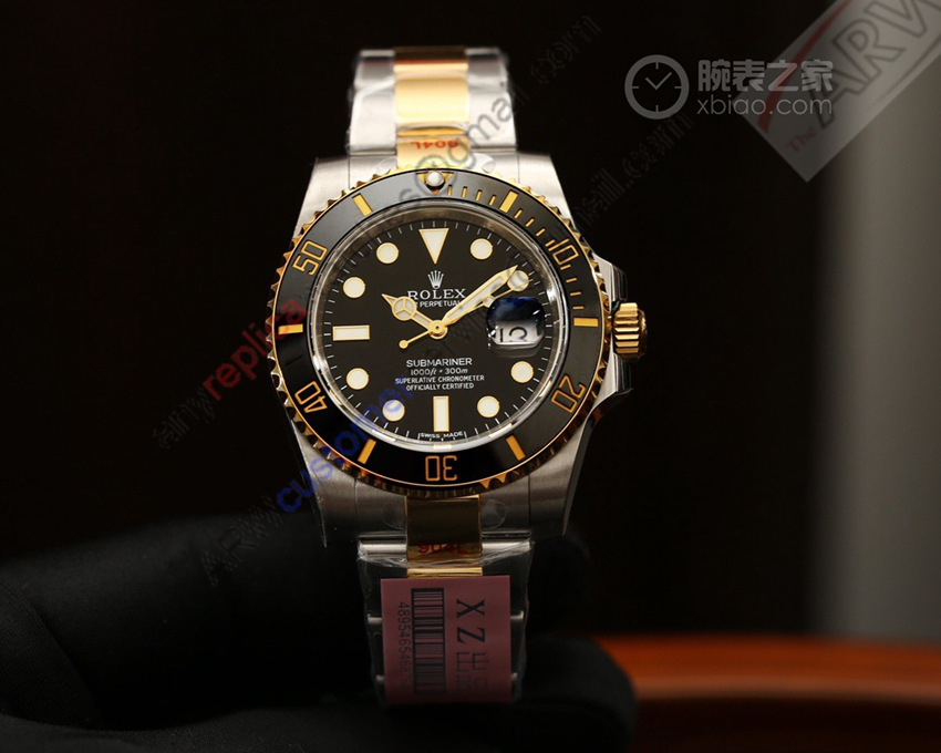 XZ Factory 1:1 Replica Rolex Submariner Two Tone Watch 116610