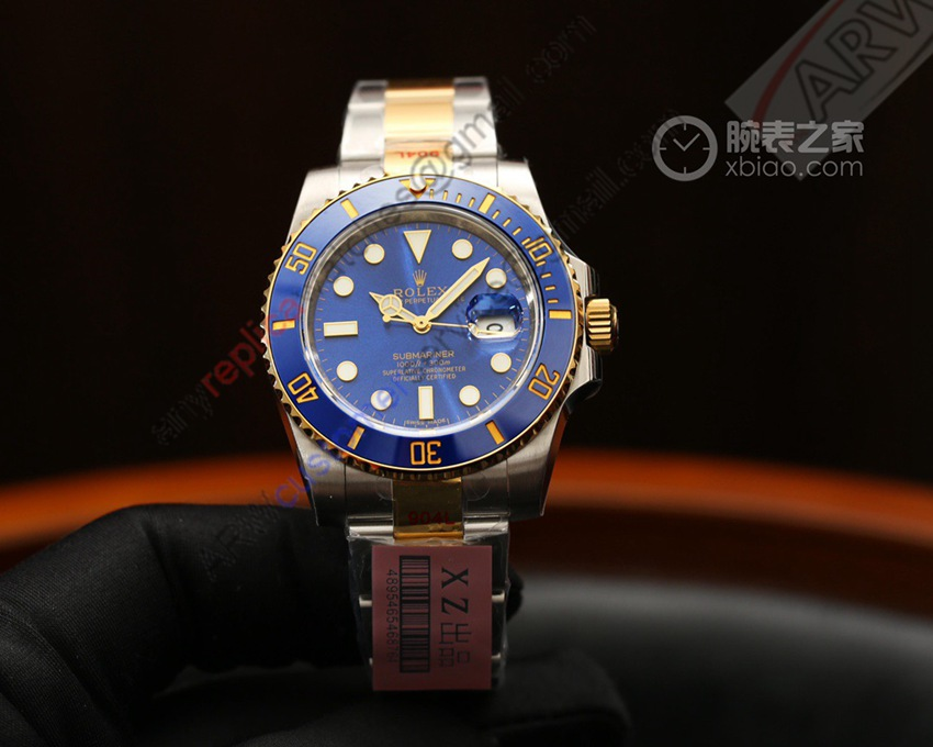 XZ Factory 1:1 Replica Rolex Submariner Blue Dial Watch 116610