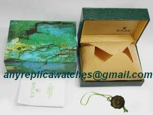 Rolex Green Leather replacement watch box with hang tag and cert
